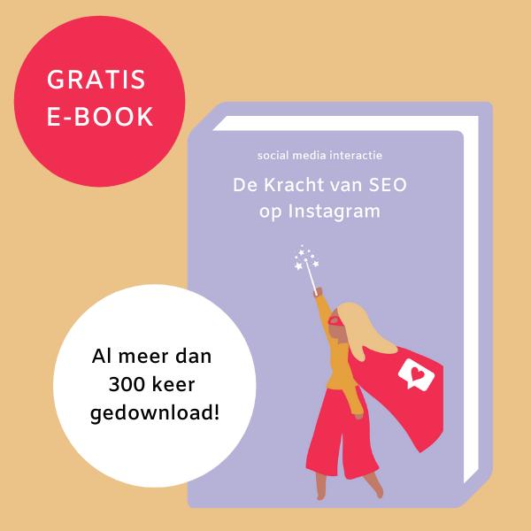 E-book SEO op Instagram