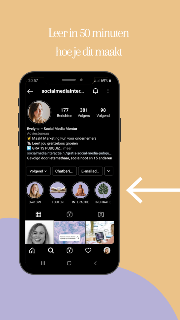Instagram highlights iconen maken